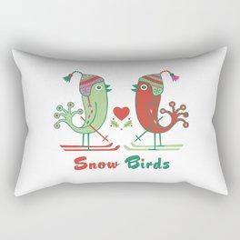 Snow Birds Rectangular Pillow