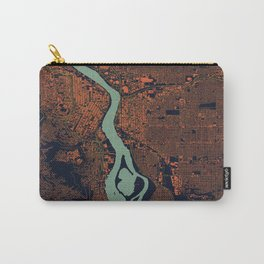 Portland, OR City Map Carry-All Pouch