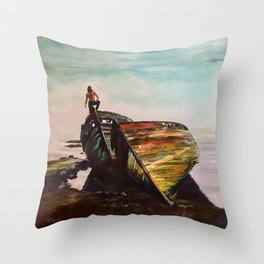 Far From Here Throw Pillow