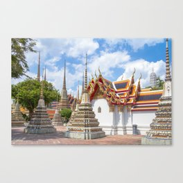 Stupas in Wat Pho, Bangkok, Thailand Canvas Print