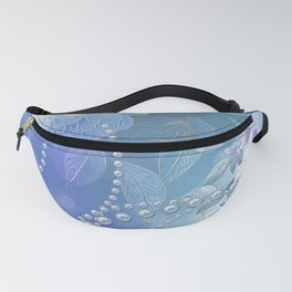 Elegant floral design with pearls Fanny Pack