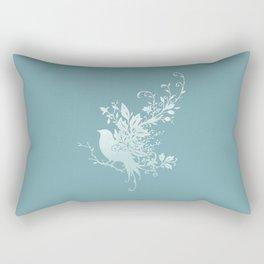 Flower Bird Rectangular Pillow