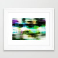 techno Framed Art Prints featuring Techno Dream by Idle Amusement