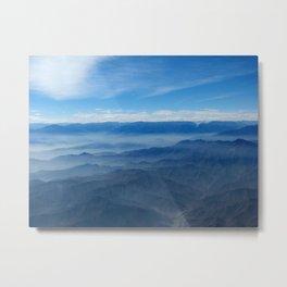 Blue in Peru Metal Print