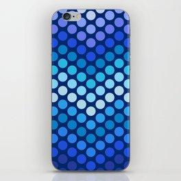 Dot Chevron: Blue violet iPhone Skin