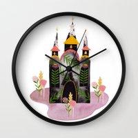 victorian Wall Clocks featuring Victorian House by Estée Preda