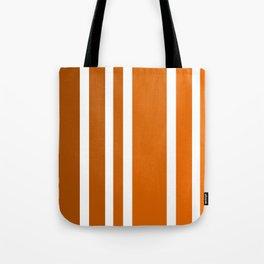 Striped Ombre in Orange Tote Bag
