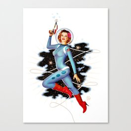 Space Pinup 1 Canvas Print