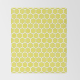 Summery Happy Yellow Honeycomb Pattern - MIX & MATCH Throw Blanket