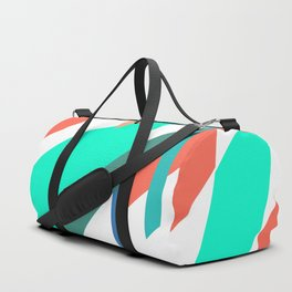 Neon Grapefruit and Electric Mint Shapes Duffle Bag