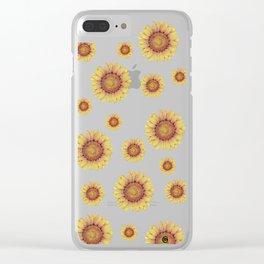 Swirly Sunflower Clear iPhone Case