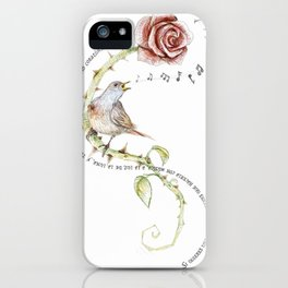 The nightgale and the rose iPhone Case