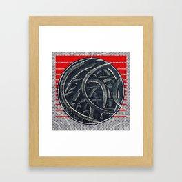 Junction - red graphic Framed Art Print