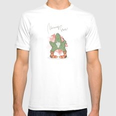 morning_star_03 White SMALL Mens Fitted Tee