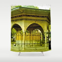 Passing people. Shower Curtain