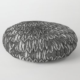 Feather Pattern No. 2 | Vintage Feathers | Black and White | Bird Feathers | Patterns in Nature | Floor Pillow