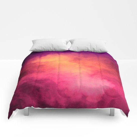 Rainbow Sky Clouds Comforters