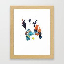 paint shirt Framed Art Print
