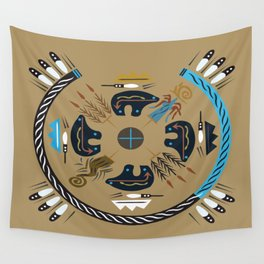 American Native Pattern No. 114 Wall Tapestry