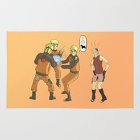 naruto Area & Throw Rugs featuring Naruto Science by Solidus