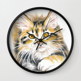 Maine Coon Kitty Wall Clock