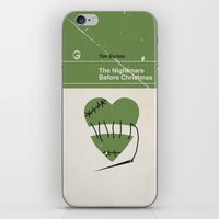 nightmare before christmas iPhone & iPod Skins featuring The Nightmare Before Christmas by Bubblegum Prints