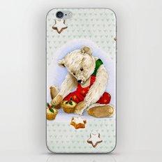 violet_Hearts_xmas_Teddy_1 iPhone & iPod Skin
