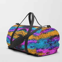 indian psychedelic graffiti drawing abstract in pink orange blue Duffle Bag