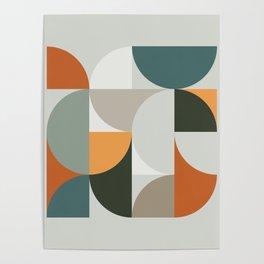 Mid Century Geometric 12 Poster