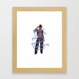 dental cowboy Framed Art Print