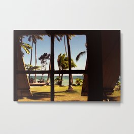 Tropical Fiji Beach Scene Metal Print