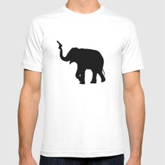 elephant Mens Fitted Tee X-LARGE White