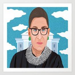 Ruth Bader Ginsburg Notorious RBG Art Print