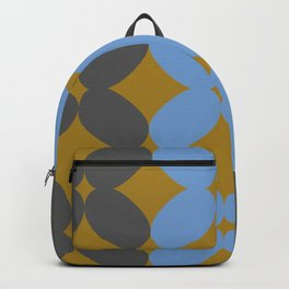 Retro Petal Pattern Tri-color #decor #society6 #buyart Backpack