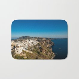 View of Thira, Santorini, Greece Bath Mat