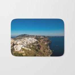 View of Thira, Santorini, Greece Bath Mat
