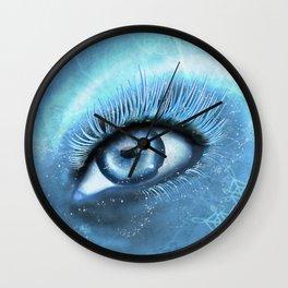 Winter Eye Wall Clock