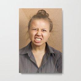 Angry woman Metal Print