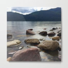 Lake Rocks Metal Print