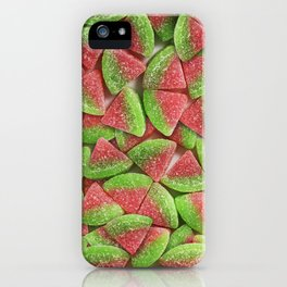 Sour Watermelon Gummy Candy Photo Pattern iPhone Case