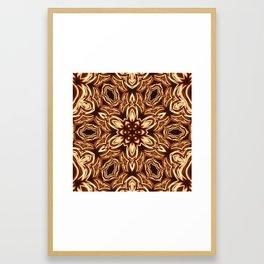Fractal Filament Blast Pattern Framed Art Print