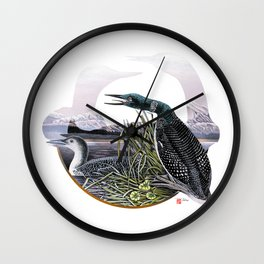 DW-019 Song Of The Loons Wall Clock