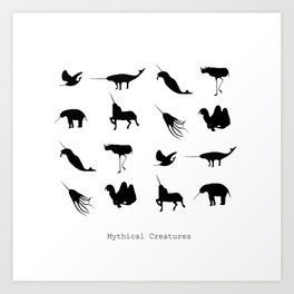 Typology of Mythical Creatures Art Print