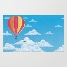 Picnic in a Balloon on a Cloud Rug