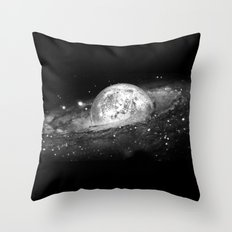 Moon and Galaxy Throw Pillow