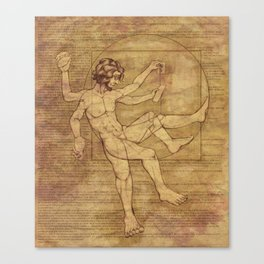 Vitruvian Man 2.0 Canvas Print