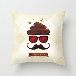 Hipster Hat Throw Pillow