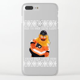 A Very Gritty Christmas Sweater Clear iPhone Case