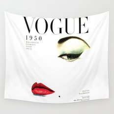 Fashion Print Gift Women Vogue Print Vogue Cover vogue cover 1950 Fashionista Fashion Decor Wall art Wall Tapestry