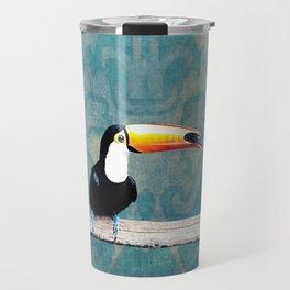 toucano tropical blue Travel Mug